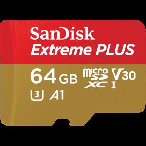 SanDisk Extreme 64GB MicroSD U3 UHS-1 Card - Plaza Cameras
