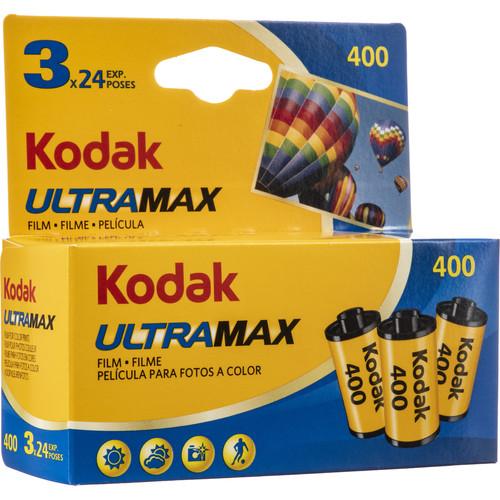 Kodak Ultramax 400 Film 3-Pack (35mm, 24 Exp)