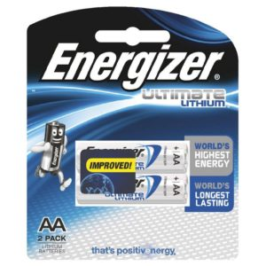 Energizer Lithium AA Battery 2 pack