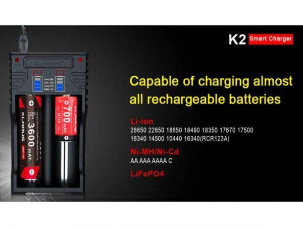 Klarus K2 Smart Charger - Plaza Cameras
