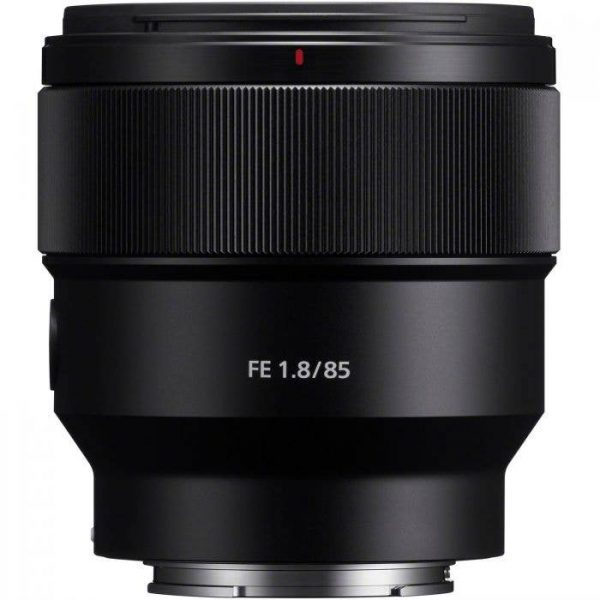 Sony 85mm f1.8 front - Plaza Cameras