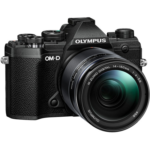 Olympus OMD E-M5 Mk III Black Body + 14-150mm f4-5.6 Kit Lens - Plaza Cameras