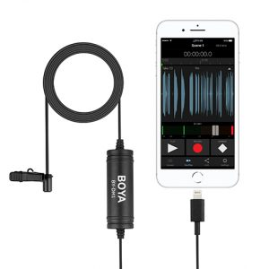 Boya BY-DM1 Lavalier Mic for iPhone - Plaza Cameras