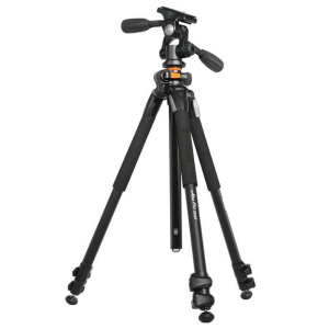 VANGUARD VEO 3+ 263AP PRO TRIPOD WITH 3 WAY PAN HEAD & MONOPOD - Plaza Cameras
