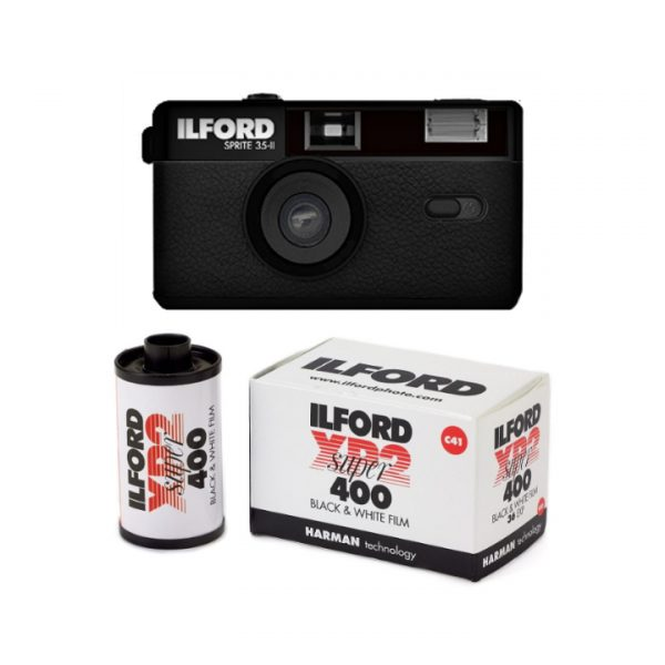 ILFORD SPRITE 35-II REUSABLE CAMERA - CLASSIC BLACK - Plaza Cameras