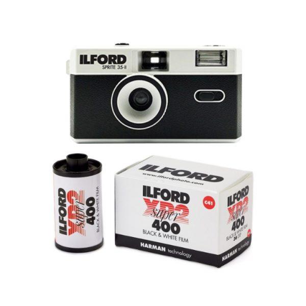 ILFORD SPRITE 35-II REUSABLE CAMERA - CLASSIC BLACK & SILVER - Plaza Cameras