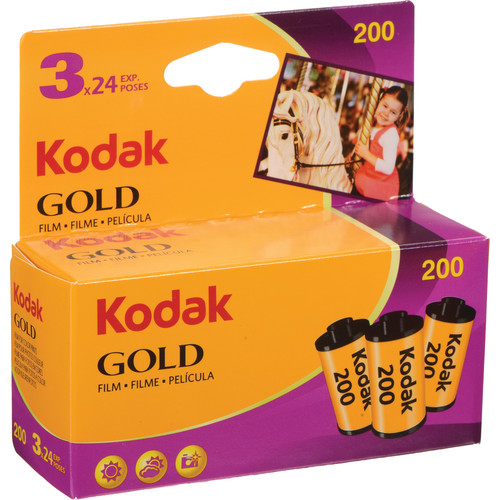 Kodak GB Gold 200 ISO 35mm 24 Exposure (3 Pack) - Colour Negative Film - Plaza Cameras