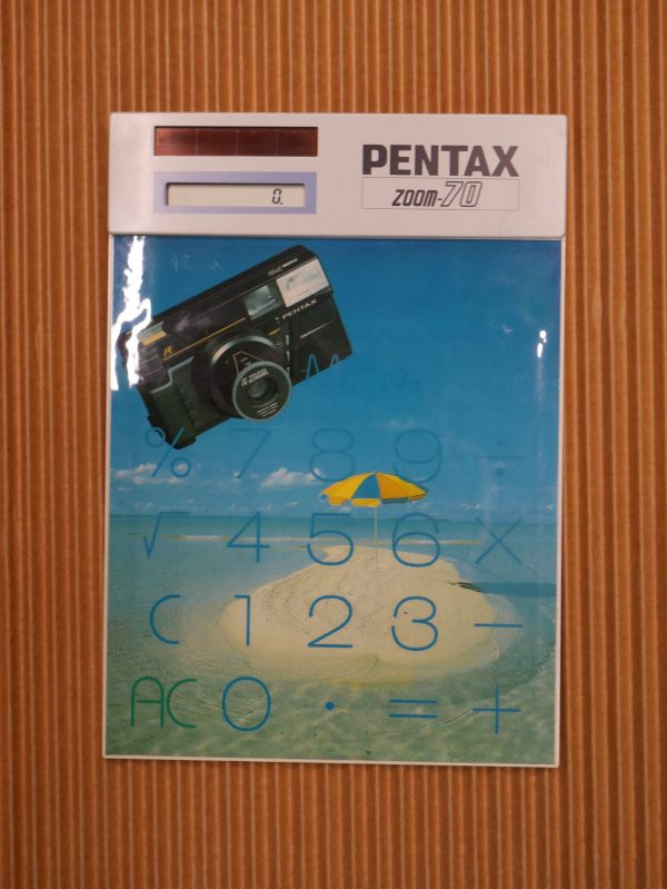 Pentax Zoom 70 Promotional Solar Calculator approx 1986
